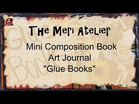 Mini Composition Book Art Journal, Glue Books