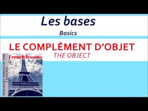 French grammar basics: direct and indirect objects