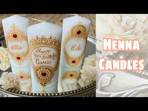 Personalised henna candles