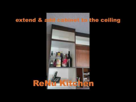 refacing cabinet up to ceiling