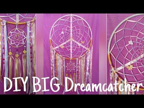 DIY Giant Pastel DREAMCATCHER   Dream BIG yo!   Tumblr Inspired