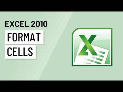 Excel 2010: Formatting Cells