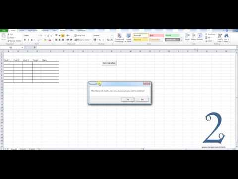 Adding a Yes No message box to Excel VBA macros