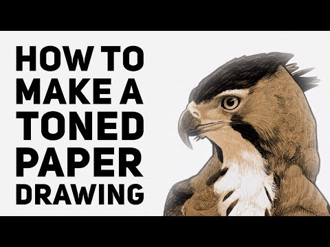 How to Create a Digital Toned Paper Drawing