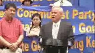 纽约市议员阿维拉针对法拉盛事件举办新闻发布会