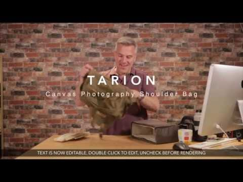 TARION Canvas Camera Photography Shoulder Bag - Part 1, unpacking and initial review