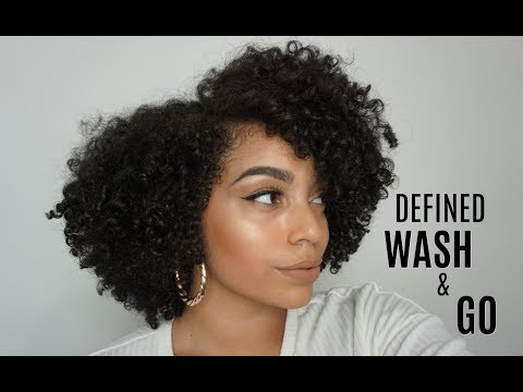 Defined Wash and Go Only Using One Brand | *Wash Day Included*
