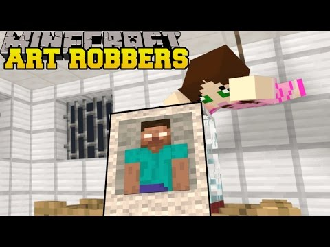Minecraft: ART ROBBERS (STEAL ALL THE ART!) Custom Map