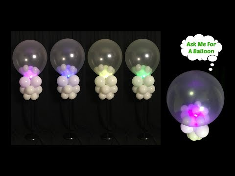 Tall Lighted Balloon Centerpiece Tutorial