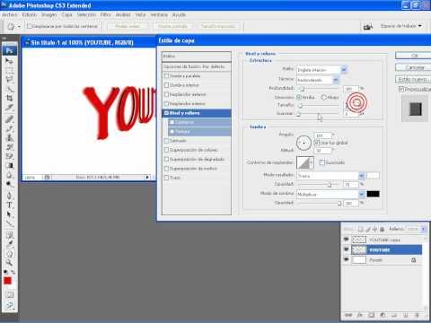 Como hacer un texto 3D en Adobe Photoshop Cs3