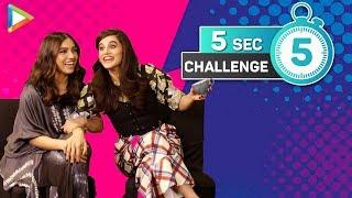 Hilarious 5 Second Challenge with Taapsee & Bhumi | SRK-Kajol Films | Boyfriend's Characteristics