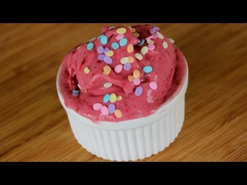 Easy Raspberry Ice Cream (Only 3 Ingredients)