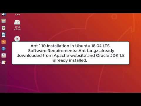 Ant 1.10 Installation in Ubuntu 18.04 LTS