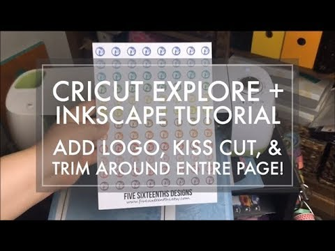 Cricut Explore + Inkscape Tutorial // How to Add Your Logo + Cut Sticker Sheet from the Page