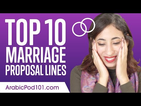 Learn the Top 10 Marriage Proposal Lines in Arabic