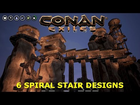 CE 6 Spiral Stairs Patterns in Conan Exiles