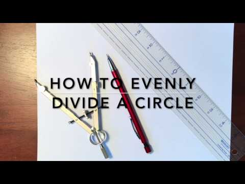 How to Evenly Divide a Circle with a Compass - Mandala Tutorial