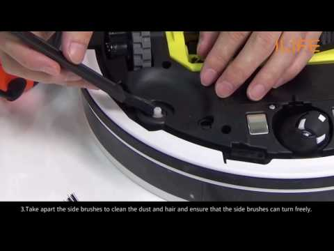 How to clean side brush | ILIFE V7/s Robot Vacuum