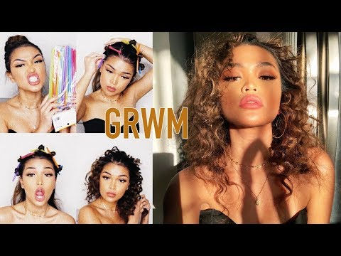 GRWM ♡ Heatless Tight Curls + My Go To Makeup Tutorial