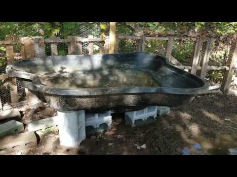 Building an above ground pond with a drain - Part 2