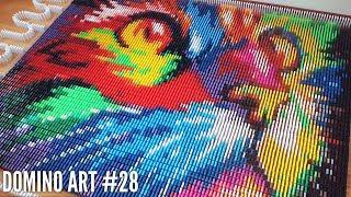 AMAZING RAINBOW CAT MADE FROM 7,000 DOMINOES | Domino Art #28