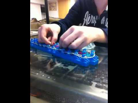 How to make a crazy loom bridge style bracelet