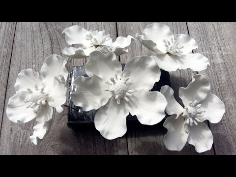How to make fantasy gum paste flowers