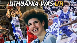 LaMelo Ball Career Lithuania Highlights! 16-Year-Old PRO Dominates For Vytautas 🔥
