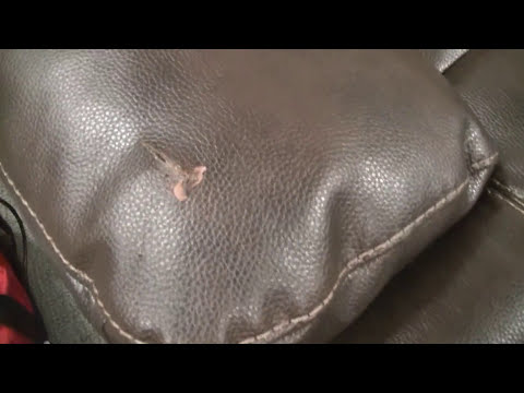 How to repair a tear in genuine leather sofa arm