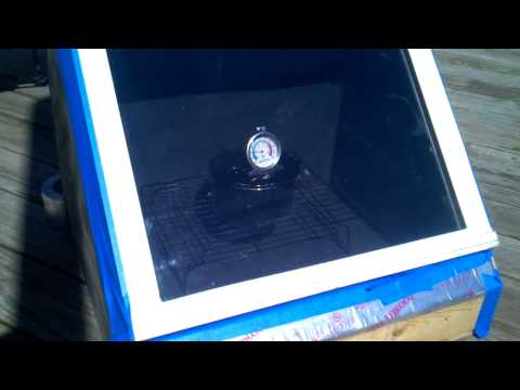 My new diy solar oven in the first stages part 2.