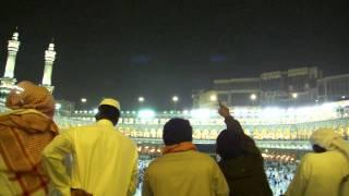 White Birds Flying Above Kaabah While Heavy Rain 2011