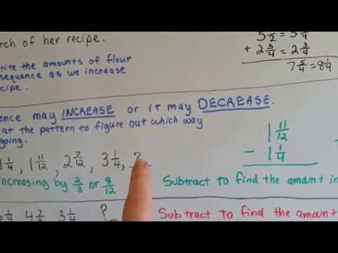 Gr 5 Math #6.8, Sequence Patterns with Fractions