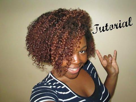 Bleaching and Coloring Natural Hair Mahogany!