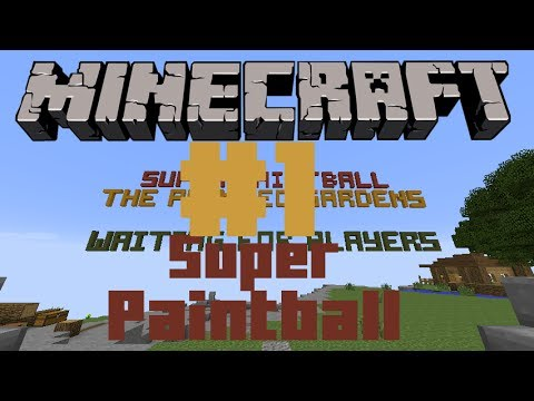 Minecraft | Super Paintball - #1(Red vs Blue)