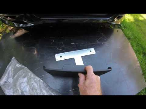 Porsche Boxster front license plate mounting options