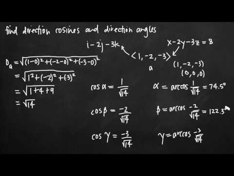 Direction cosines and direction angles (vectors) (KristaKingMath)