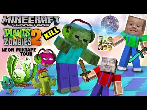 Minecraft Zombie Kill Challenge before PVZ 2 Neon Mixtape Tour (FGTEEV SLEEPY TIME FUN w/ Chase) PS4