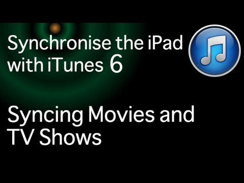 Sync the iPad to iTunes 11 - Sync movies and TV to iTunes: Part 6