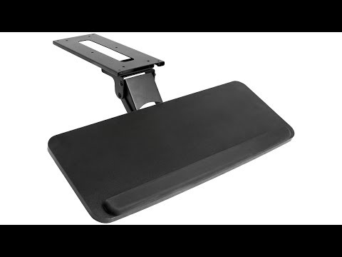 VIVO Adjustable Computer Keyboard & Mouse Platform Tray Desk Mount Drawer (MOUNT-KB03B)