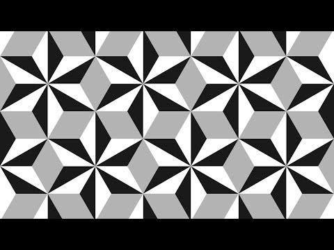 Design patterns| Tile patterns | Geometric patterns | black and white | Corel DRAW tutorials | 010