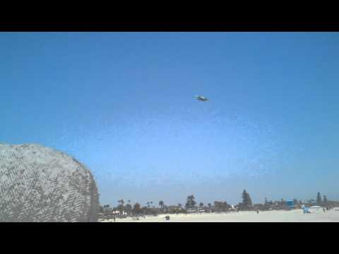 Military Jets landing in San Diego from Coronado Beach