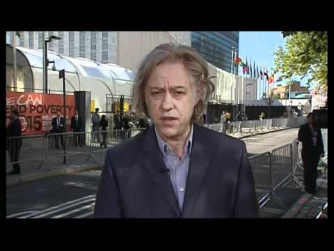 Geldof praises Millenium Development Goal progress