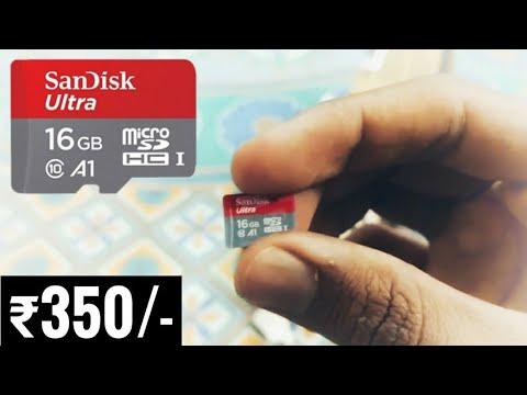 SanDisk Ultra 16 GB MicroSDHC class 10 Memory Card. [speed 98MB/S]