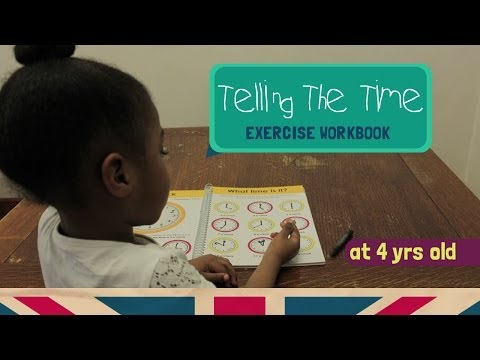 Smart 4 Year Old | How to Read and Write The Time