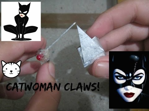 How To Make CATWOMAN CLAWS ( Cosplay / Weapon )