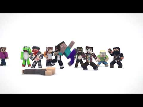 EVERYBODY DO THE FLOP [Minecraft YouTuber Version] 10 minutes
