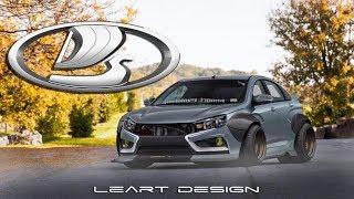 Virtual Tuning Lada Vesta Photoshop