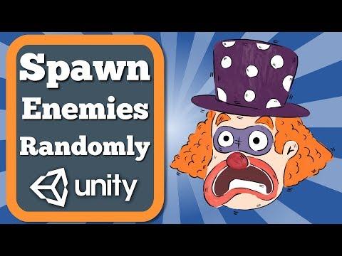 How to spawn enemies randomly in Unity 2D game?