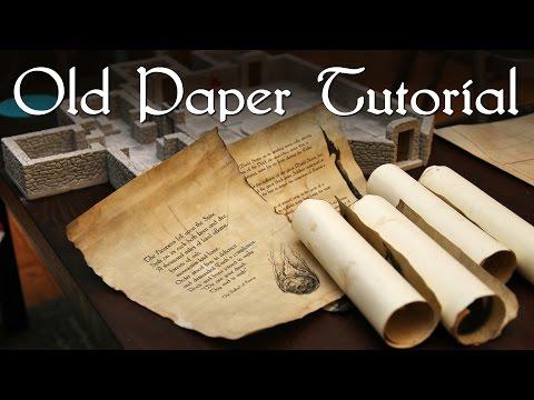 Old Paper Tutorial