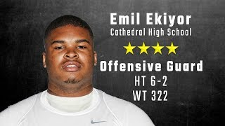 Emil Ekiyor highlights | Alabama 4-star signee from Cathedral